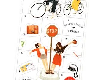 Forever Friend Scrapbooking Sticker, Planner Stickers, Scrapbook Stickers -AT2236