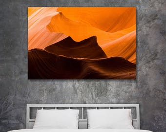 Fine art landscape photography - Antelope Canyon Waves - original home decor wall art