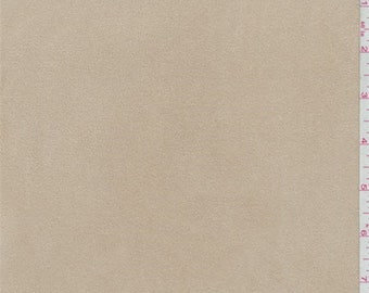 Golden Beige Microsuede Knit, Fabric By The Yard