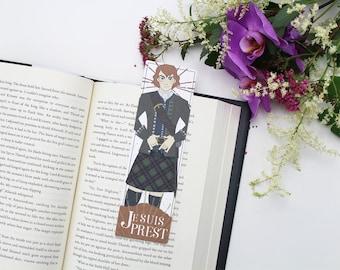 Jamie - bookmark - Je Suis Prest || scottish, book lover gifts, outlander bookmark, sassenach, outlander quote gift