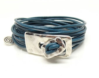 Leather Wrap Bracelet, Wrap Bracelet, Leather Bracelet, Bracelets, Handmade Jewelry, Boho Bracelet, Gift for Wife