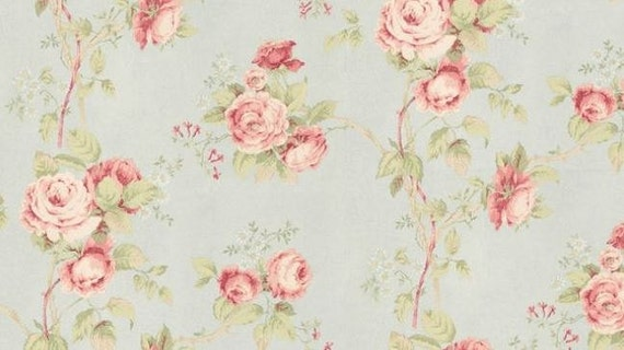 fond d cran vintage inspiration floral trail rose vert. Black Bedroom Furniture Sets. Home Design Ideas