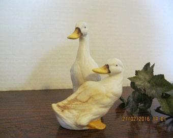 Vintage 2 duck ceramic figurine used