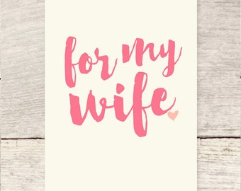 For My Wife   Mother's Day   Wife birthday greeting card