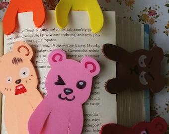 plush foam bookmarks bears colourful funny faces manga kawaii