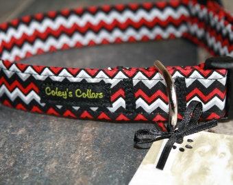"""Dog Collar, Dog Collars, Boy Dog Collar, Girl Dog Collar, Male Dog Collar, Female Dog Collar, Chevron Dog Collar,  """"The Aiden"""""""