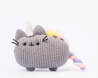 Pusheenicorn Amigurumi Plush Doll DIY Crochet Pattern (Pusheen from Facebook Messenger)