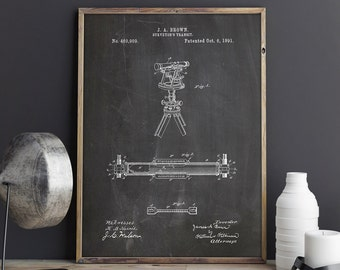 Surveyor's Transit, Transit Poster, Transit Blueprint, Land Surveyor Poster, Land Surveyor Decor, Surveyor Theodolite, Art, INSTANT DOWNLOAD