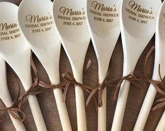 Engraved Wooden Spoons - Bulk Wooden Spoons - Personalized Wooden Spoons - Bulk Party Favors - Bulk Wedding Favors - Family Reunion Favors