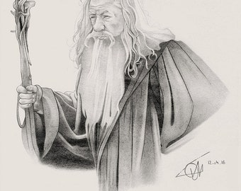 Gandalf pencil portrait.