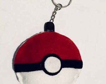 poke ball plushie keychain