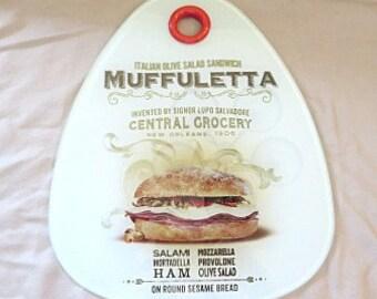 Cutting Board - Muffuletta Cutting Board - Nola Foods - New Orleans Gift - Home Decor - Serving Tray - Nola Cutting Board -New Orleans Decor