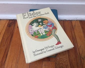 Eldinore Book Children's Book Vintage White Hardcover 1973 Unicorn Fantasy Tales
