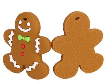 SALE teething toy - gingerbread cookie