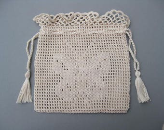 Reticule with Butterfly Pattern