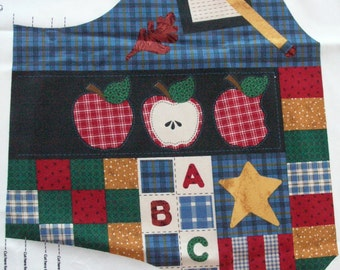 Back to School Vest / PrePrinted Fabric Panel / Ready to Sew / DreamSpinners for V.I.P. /  Cranston Prints / Fabric Craft Panel