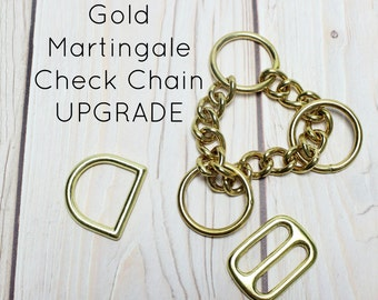 """Upgrade Collar to Gold Half Check Chain Martingale 