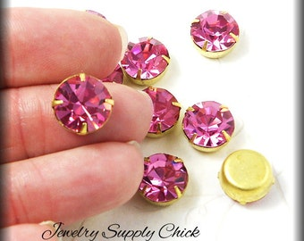 Vintage 11mm Rose Swarovski setting (47ss)