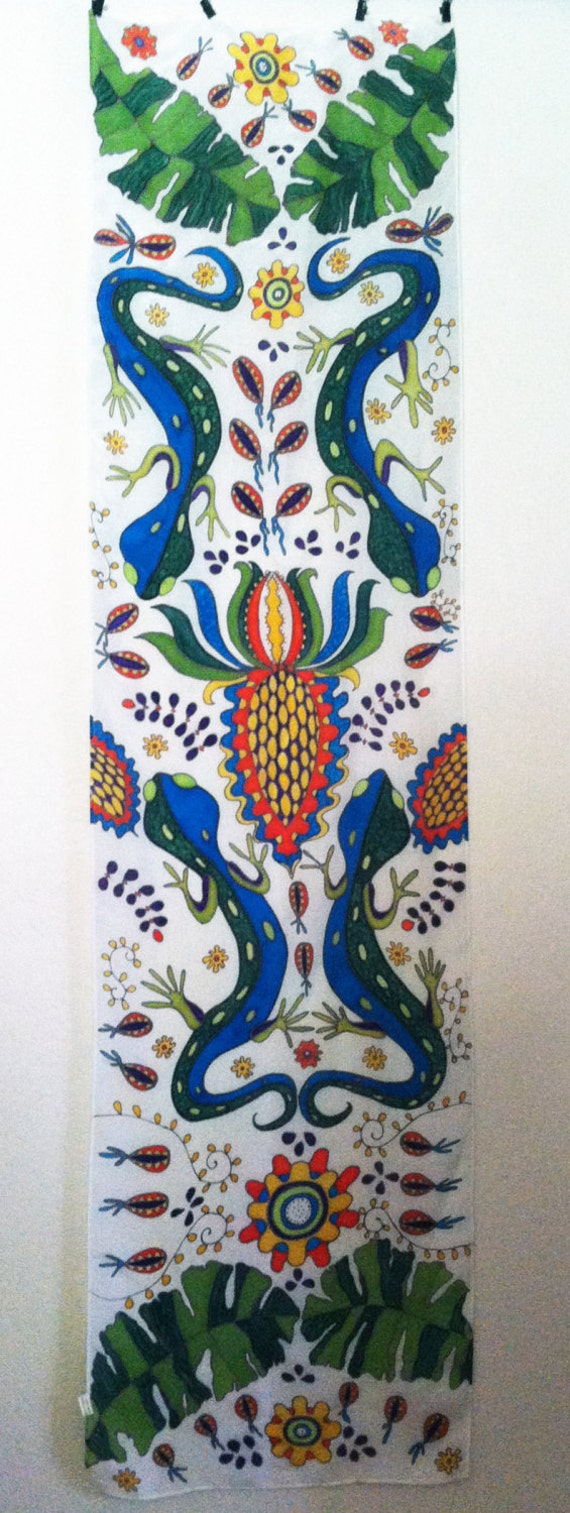 TASTE OF MEXICO Silk Wall Hanging