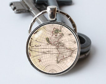 Vintage map keychain map jewelry old map keyring world map key map keychain world map key ring old map jewelry globe key chain world map pendant geography travels keyring traveler gift tourist keychain gumiabroncs Gallery