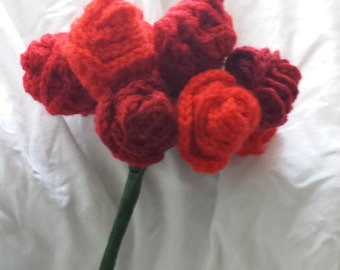 Crochet Bouquet- Dozen Roses (Variety of Colours Available)
