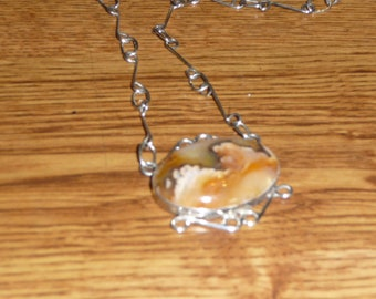 Grave Yard Point Plum Agate Necklace, Agate Necklase