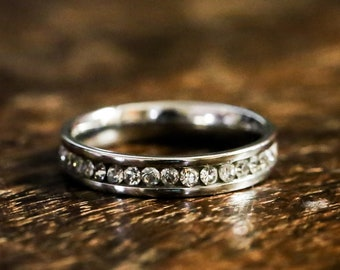 CZ eternity band stacking ring