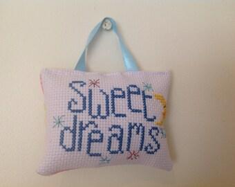 Cross stitch baby wall hanging