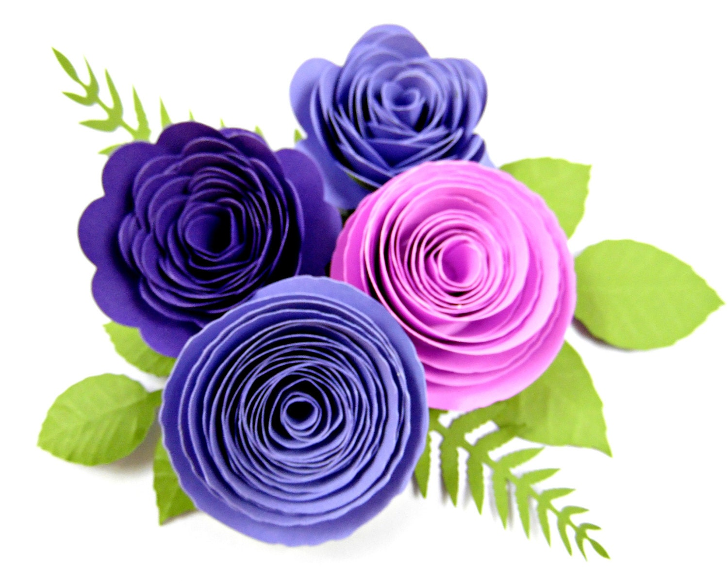 Paper flower rolled rosettes diy paper roses rosette flower for Rolled paper roses template