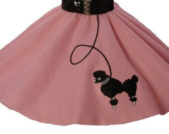 Light Pink 50's POODLE SKIRT for YOUTH 10 12 14 16