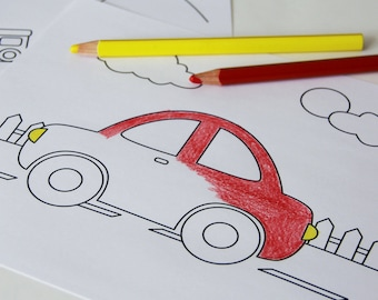 Printable coloring pages - vehicles