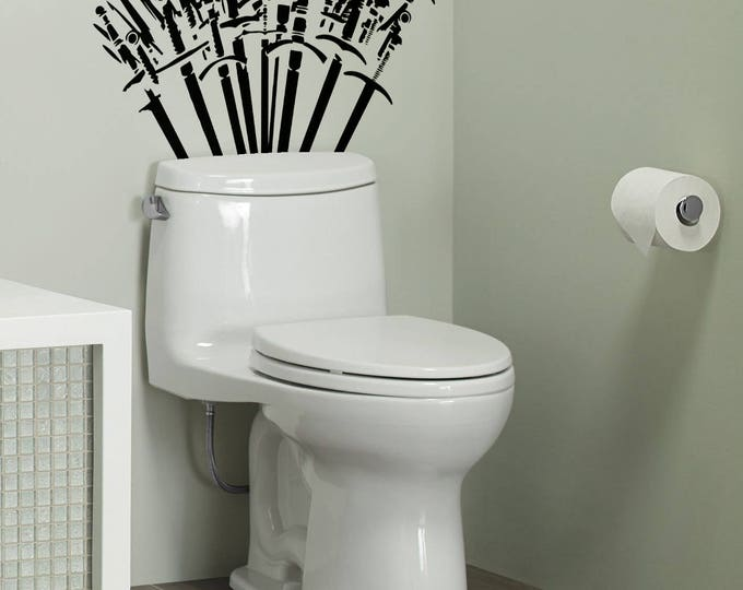 Featured listing image: Throne of Spades - Toilet Decor wall Decal Set - The WC has never been so exciting, Toilets, Fun, Funny, Game of Thrones, Sticker, Rest Room