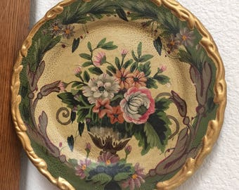 Vtg Raymond Waites Victorian Floral Wall Plate ... & Raymond waites plate | Etsy