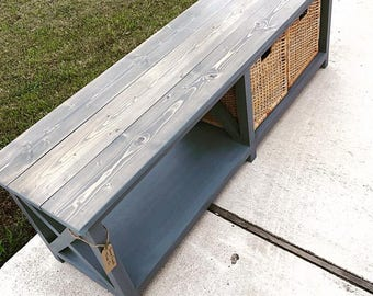 The Audrey Design /Farmhouse Bench / Country Chic bench / entryway Bench / mudroom