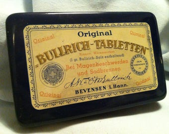 Vintage tin can Bullrich Tabletten Germany