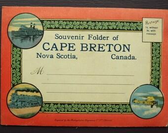 Souvenir Folder of Cape Breton Nova Scotia, Canada Vintage Foldout Postcards