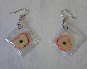 fruity cherry earrings