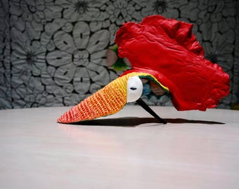 Rooster Hat, Wearable Art, Headpiece, Rooster Custom, Rooster Cap