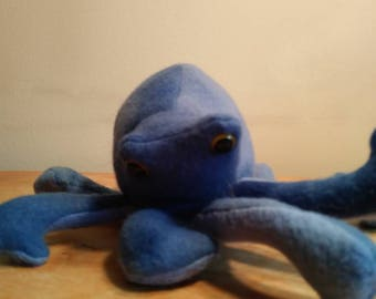 Marble blue Octopus