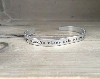 My Courage Always Rises / Jane Austen / Pride and Prejudice Bracelet / Literary Gift / Literary Bracelet / Book Lover Gift / Gift For Her