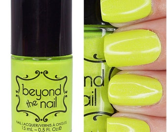 Celestial - Summer Galaxy 2.0 Nail Polish - Neon Chartreuse Subtle Holographic