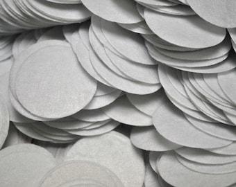 "Felt circles PICK quantity White 1.5"" Felt circles for DIY Crafts, flower backing felt circles, felt supply, diy headband, supply shop"