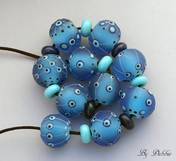 Lampwork Beads Glass Beads On Sale Handmade Lampwork Jewelry Supplies Artisan Beads Made In USA Jewelry Beads Bracelet Debbie Sanders