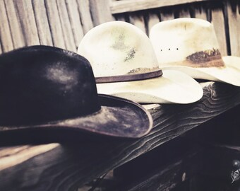 Old Trusty, cowboy, cowboy hats, fine art print, wall art, photo, photograph