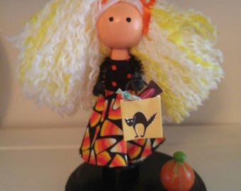 Candy Corn Clothespin Doll