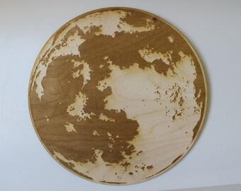 Moon Engraved Wooden Wall Art