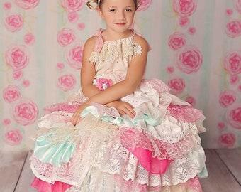 Handmade layered dress