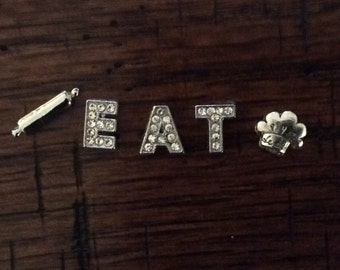 EAT, PRAY, LOVE - Alloy Charm Sets for Memory Lockets