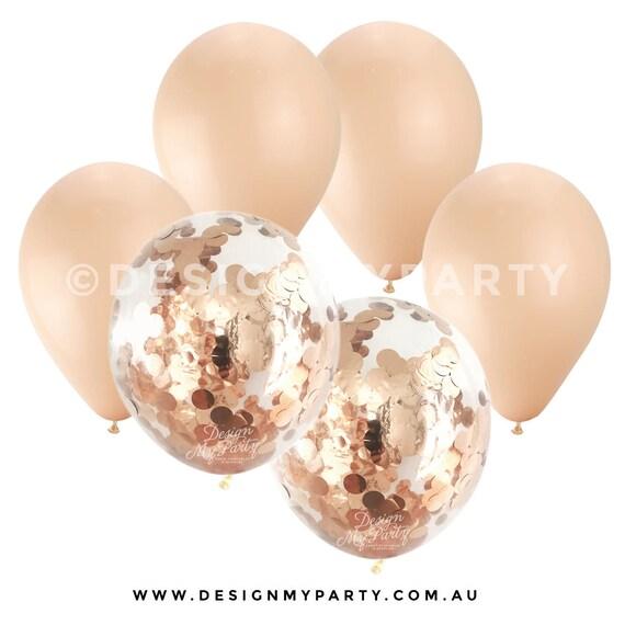 Kupfer Konfetti erröten ballons mit 2 gold kupfer konfetti ballons 12