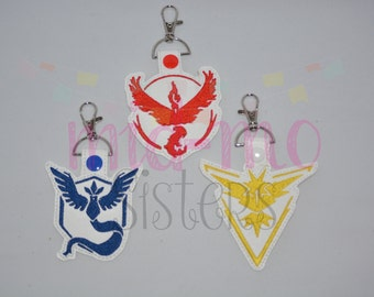 pokemon Go Team Key Fob/Key Chain